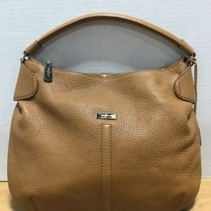 COLE HAAN TAN PEBBLED LEATHER HOBO